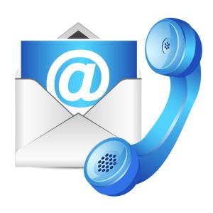 blue contact icon